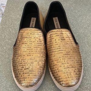 Steve Madden Gold Sneakers
